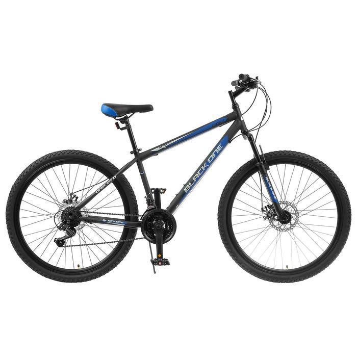 """Велосипед 27.5"""" Black One Onix D, цвет чёрный/синий/серый, размер 20"""""""