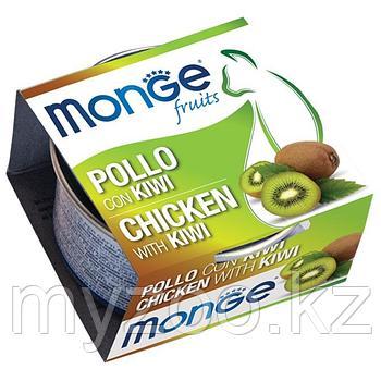 MONGE Frut Cat cans 80 гр   Кусочки для кошек курица с киви