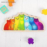 Развивающая доска «Разноцветные котята. Радуга»