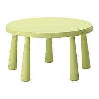 Стол детский МАММУТ д/дома/улицы светло-зеленый ИКЕА, IKEA , фото 1