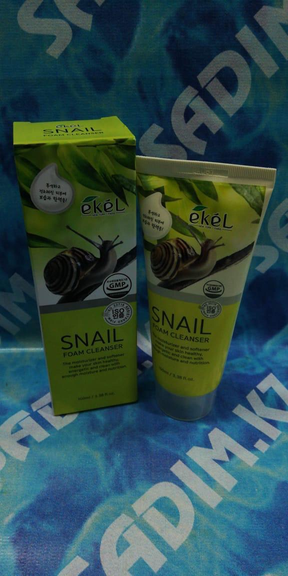 Ekel Snail Foam Cleanser 100 мл Пенка для умывания с муцином улитки