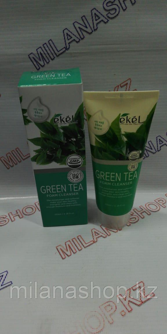 Ekel Green Tea Foam Cleanser 100 мл Пенка для умывания с экстрактом зеленого чая