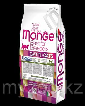 MONGE CAT HAIRBALL корм для кошек для выведения комков шерсти 10 кг