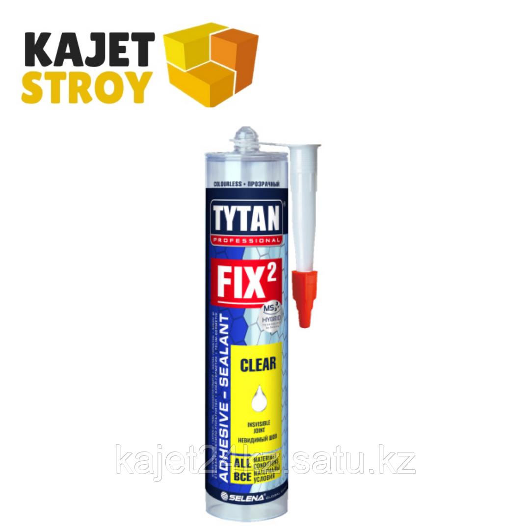 TYTAN клей монтажный Fix² CLEAR, бесцветный, 290 мл