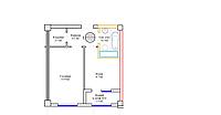 1 комнатная квартира 33.9 м², фото 1