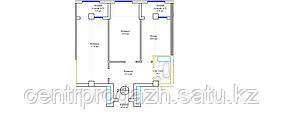 2 комнатная квартира 62.6 м²
