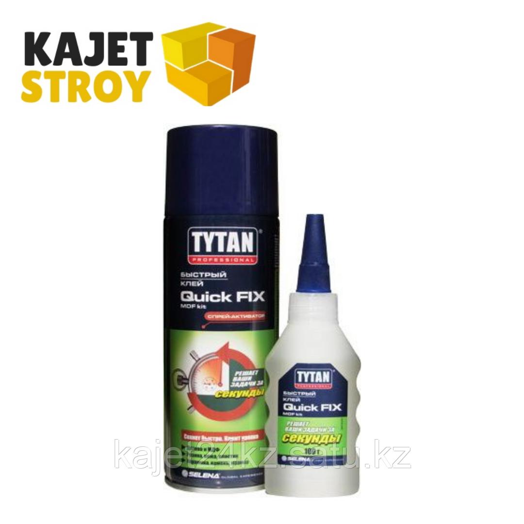 Tytan Professional клей Quick Fix двухкомпонентный цианакрилатный для МДФ прозрачный 400 мл/100 г (РФ)