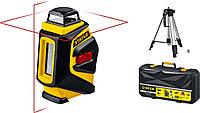 Нивелир лазерный линейный SL360-2 STAYER, крест + 360 град горизонталь, штатив 120 см, защитный кейс (34962-2)
