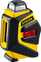 Нивелир лазерный линейный SL360-2 STAYER, крест + 360 град горизонталь, штатив 120 см, защитный кейс (34962-2), фото 3