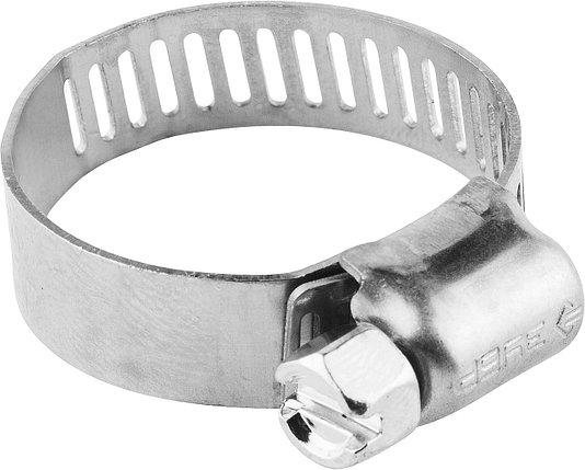 Хомуты ЗУБР 10-16 мм, нерж. сталь, просечная лента 8 мм (37811-10-16-200), фото 2