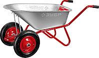 Тачка садово-строительная двухколесная ЗУБР, 90 л, 180 кг, Т-21 (39952)