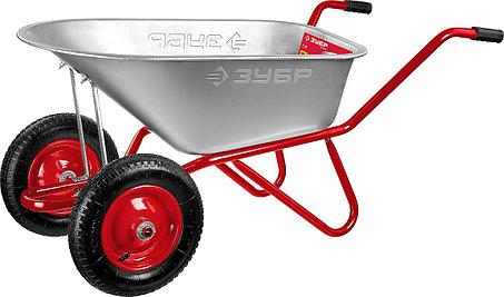 Тачка садово-строительная двухколесная ЗУБР, 90 л, 180 кг, Т-21 (39952), фото 2