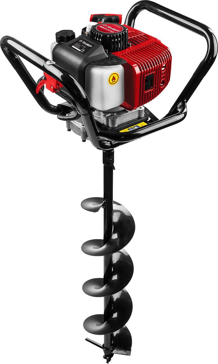Мотобур (бензобур) ЗУБР, 60-200 мм, 52 см3, 1 оператор, со шнеком (МБ1-200 Н)