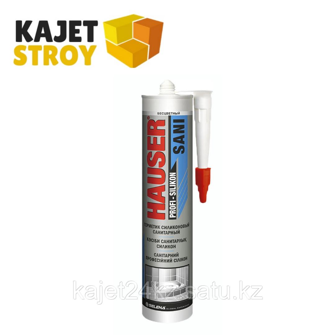 HAUSER силикон санитарный (260мл)(КНР) (бесцветный/белый)