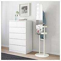 ЛИЕРСКОГЕН Напольная вешалка с зеркалом, белый, 50x185 см