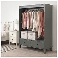 БРЮГГИА Открытый гардероб, темно-серый, 120x173 см, фото 1
