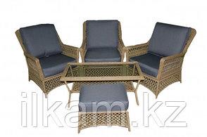 Комплект мебели из ротанга.  На три персоны.