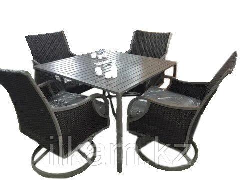 Комплект мебели из ротанга. Столовый 4 персоны., фото 2