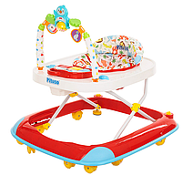 PITUSO Ходунки ПИНГВИН (8 силик.колес,игрушки,муз,2 стоппера,отбойник) RED/Красный