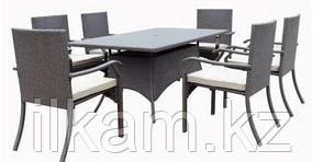 Комплект мебели из ротанга. Обеденный 6 стульев+стол