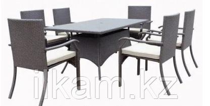 Комплект мебели из ротанга. Обеденный 6 стульев+стол, фото 2