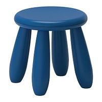 Табурет детский МАММУТ д/дома/улицы темно-синий  ИКЕА, IKEA, фото 1