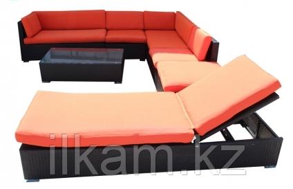 Комплект мебели из ротанга. Кораловый, фото 2