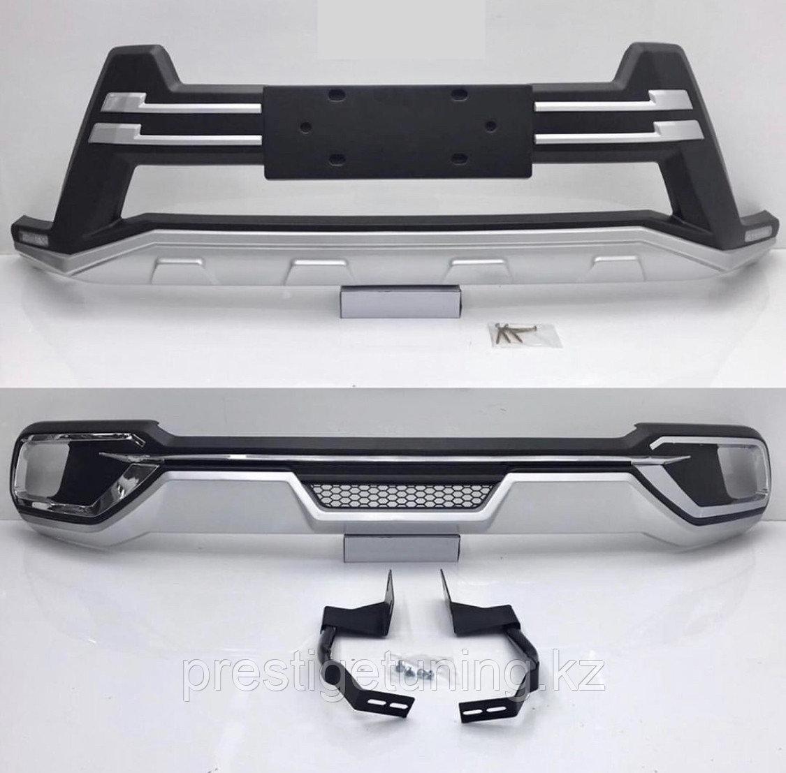 Накладки на бампера на Toyota Highlander 2018-20