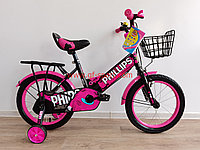 Велосипед Phillips розовый оригинал детский с холостым ходом 16 размер