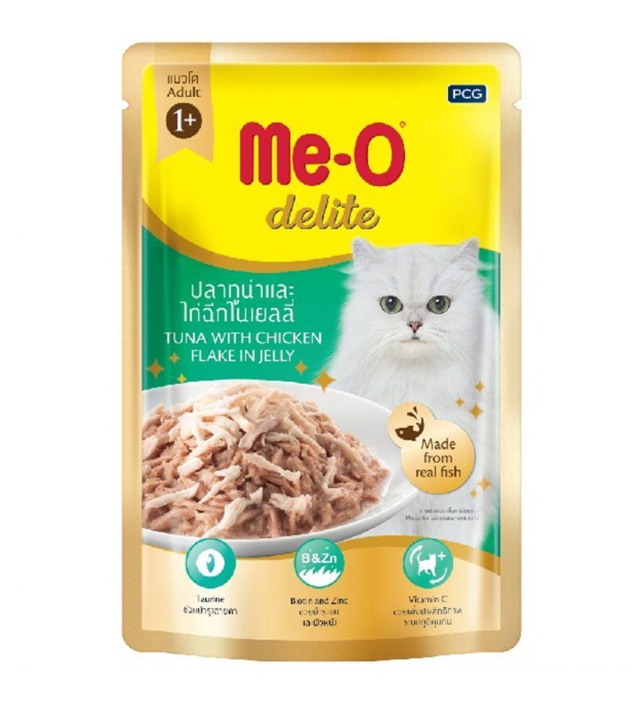 Влажный корм для кошек Ме-О Тунец с курицей в желе
