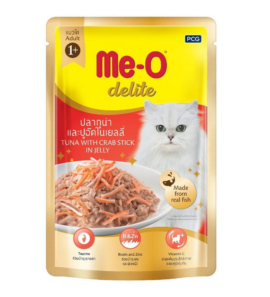 Влажный корм для кошек Ме-О Тунец с крабом в желе