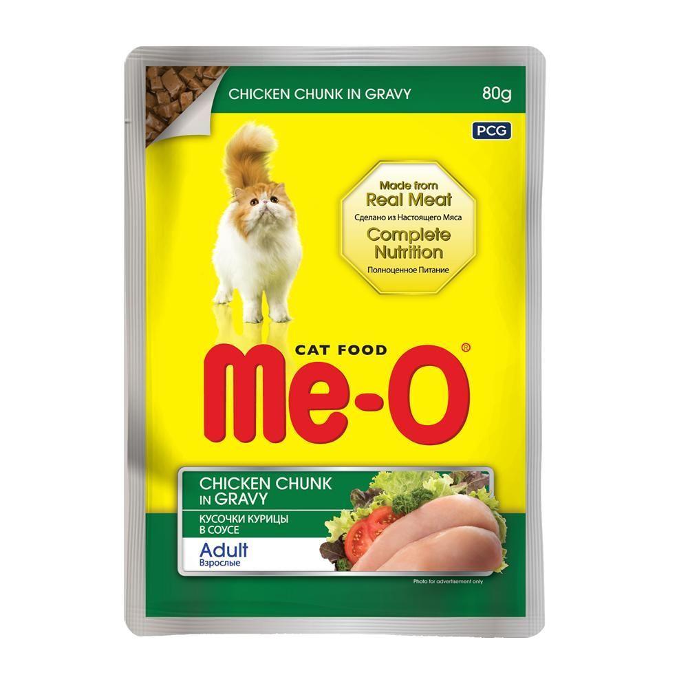 Влажный корм для кошек Ме-О Курица в соусе