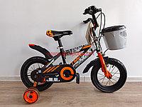 Велосипед Phoenix оранжевый алюминиевый сплав оригинал детский с холостым ходом 12 размер