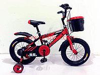 Велосипед Phoenix красный алюминиевый сплав оригинал детский с холостым ходом 14 размер