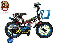 Велосипед Phillips синий алюминиевый сплав оригинал детский с холостым ходом 14 размер