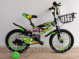 Велосипед Phillips с амортизатором зеленый оригинал детский с холостым ходом 16 размер