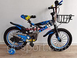 Велосипед Phillips с амортизатором синий оригинал детский с холостым ходом 16 размер