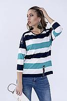 Блузка трикотажная в полоску, фото 1
