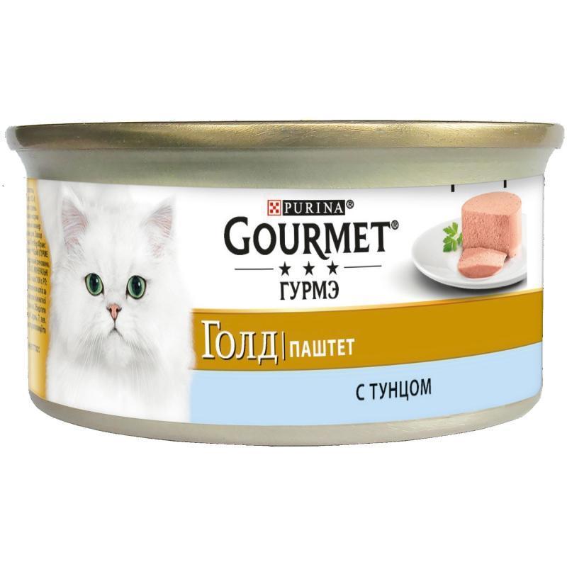 Gourmet Gold Паштет с тунцом для кошек