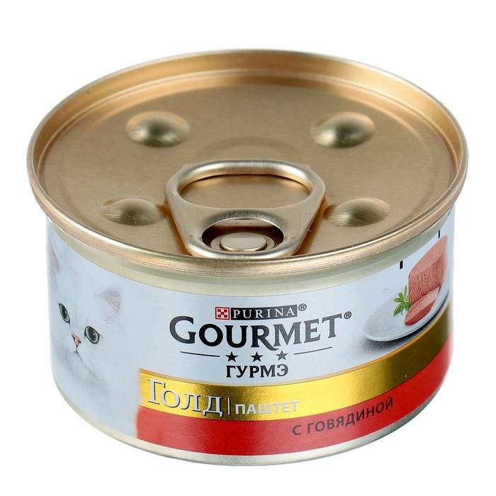 Gourmet Gold Паштет с говядиной для кошек