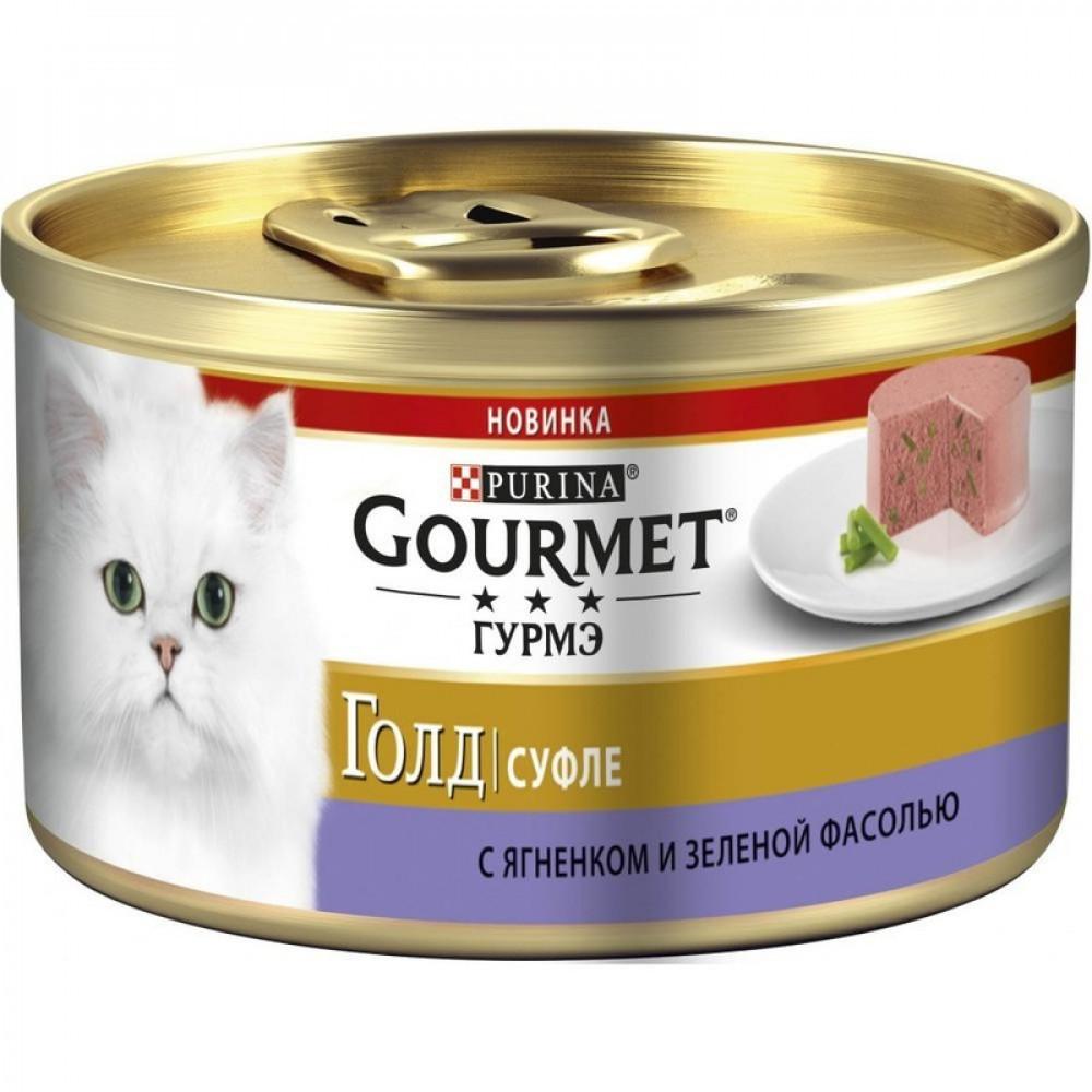 Влажный корм для кошек Gourmet Gold Биточки с ягнёнком и фасолью
