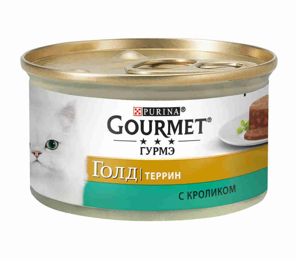 Влажный корм для кошек Gourmet Gold Террин с кроликом