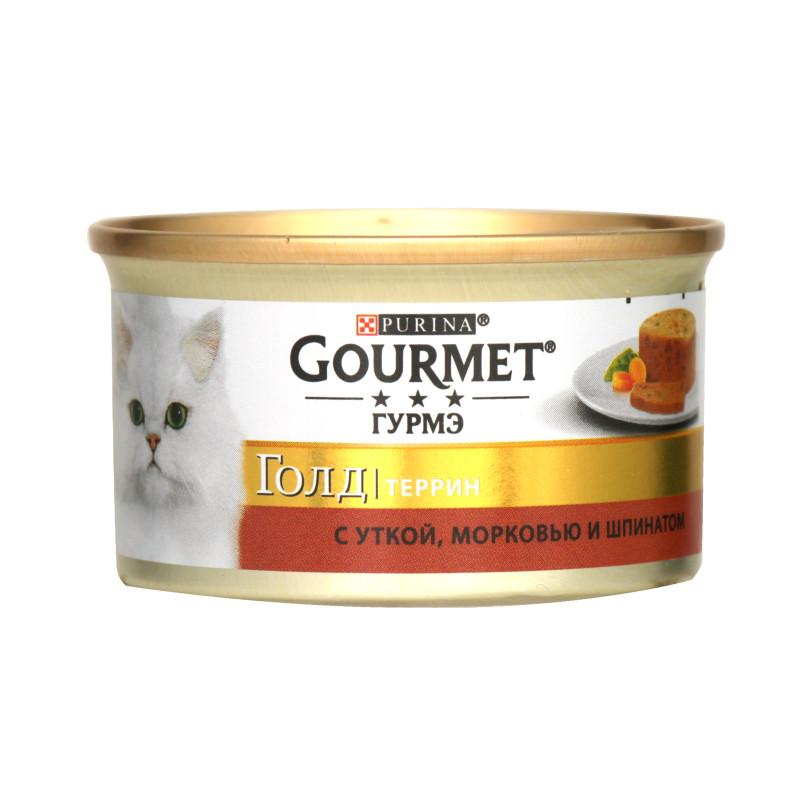 Влажный корм для кошек Gourmet Gold Утка, морковь, шпинат