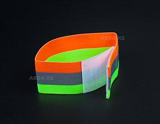 Светоотражающий эластичный браслет два цвета с одной полоской