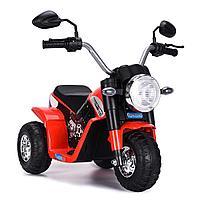 ZHEHUA Электромотоцикл 6V/4,5Ah*1,20W*1,колеса пластик,свет,муз.,кож.сид.,72х57х56 см,Красный/RED