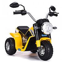 ZHEHUA Электромотоцикл 6V/4,5Ah*1,20W*1,колеса пластик,свет,муз.,кож.сид.,72х57х56 см,Желтый/YELLOW