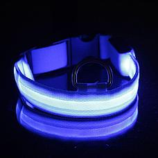 Светодиодный ошейник для собак usb размер L, фото 2