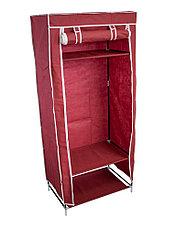 Шкаф тканевый для одежды бордовый, фото 3