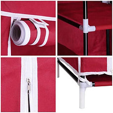 Шкаф тканевый для одежды бордовый, фото 2