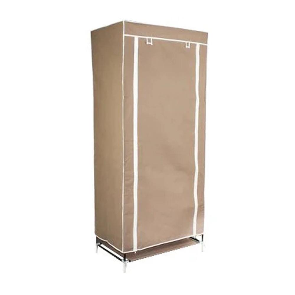 Шкаф тканевый для одежды бежевый